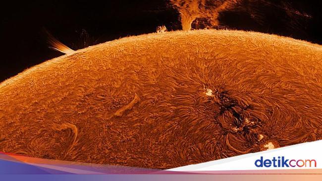 Langka! Foto Detail Permukaan Matahari