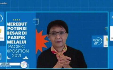 Puji Dubes Tantowi Yahya, Menlu Retno: Pacific Exposition 2021 Perkuat Diplomasi Indonesia