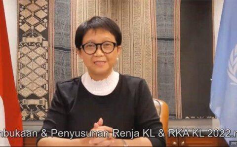 Menlu Retno Ajak Masyarakat Indonesia Aktif di Pacific Exposition 2021